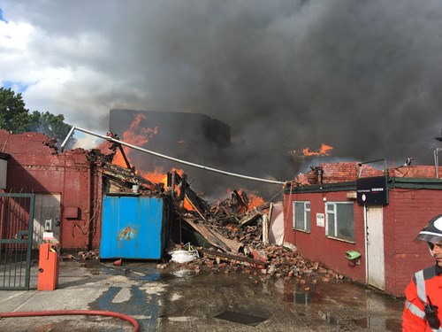 Fire at commercial building in Ashton