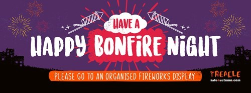 Have a happy bonfire night, Please go to an organised fireworks display